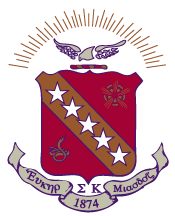 Sigma Phi Epsilon crest showing colors of purple, red and gold.